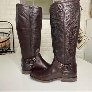 NWT FRYE BOOTS Phillip Harness Tall Leather SZ 6